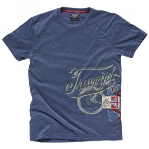 Denim Tee with Bike Print